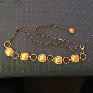 """Accessories - Vintage 70's Chain Belt Gold Tone Approx 50"""" Long"""